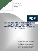 Glosario Bilingüe Economico