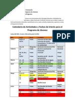 Cronograma de Eventos CIP 2012