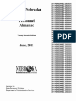 Nebraska Personnel Almanac 27th Ed. June 2011