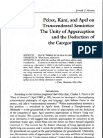 Peirce Kant and Apel on Trascendental Semiotiocs - Adams