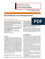 Role of Diaphragm in Pancreaticopleural Fistula
