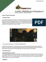 Guia Trucoteca Dragon Age Origins Play Station 3