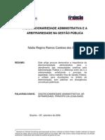 A Discricionariedade Administrativa_Gestão_Pública