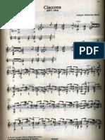 Bach Ciaccona Bwv 1004 Guitar Transcription and Revision by Abel Carlevaro