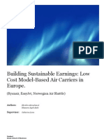 Building Sustainable Earnings Low Cost Model-Based Air Carriers