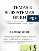 Sistemas e Subsist Em As de Rh-2