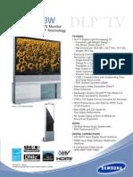 Samsung HLP6163W Samsung HLP6163W Data Sheet
