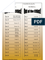 Out of the Cities! - A Bible Reading Plan