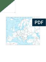 Europa Granice Kosowo Konturowa