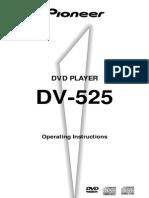 Pioneer DV-525 DVD Player User Manual