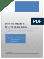 Domestic Trade & International Trade