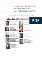 The Council On Foreign Relations Suspicious Group Members List