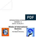 Modes of International Business