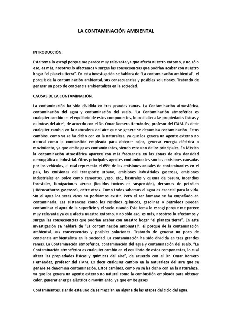 ENSAYO DE LA CONTAMINACIÓN AMBIENTAL