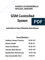 GSM Controlled System