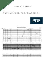 Archaischer Torso Apollos (for Soprano and Chamber Orchestra)