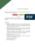Clase 3, Ficha Xlinica e Instrumentacion