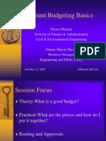 PD Budgeting 101 Marano Macey