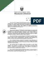 Resolución Directoral N° 351-2010-MEM-AAM