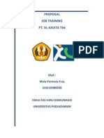 Proposal Job Training PT.xl Axiata Tbk