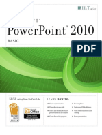 Power Point 2010 Basic (Student Manual) Mantesh