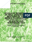 IRPS 72 Levels of Resistance of Rice Varieties to Biotypes of the Brown Planthopper, Nilaparvata Lugens, in South and Southeast Asia