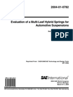 evaluation of a multi leaf hybrid springs for automotive suspensions