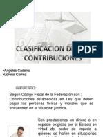 CLASIFICACION CONTRIBUCIONES
