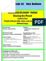 unit bulletin sharing the planet