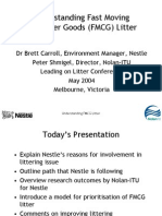 Leading on Litter Food Industry Research on Litter and Littering