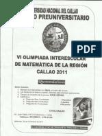 SOLUCIONARIO de Álgebra y Trigonometría VI Olimpiada interescol
