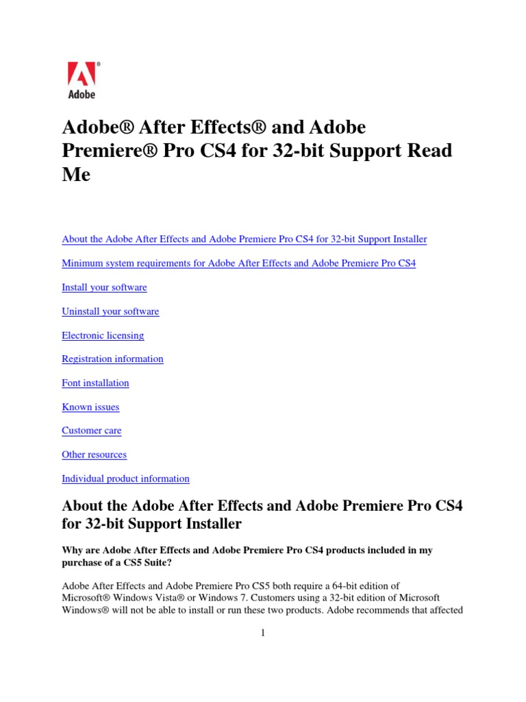 32 serial cs4 bit adobe number premiere pro Install After