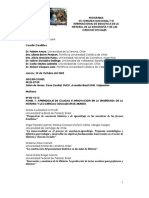 Programa VII Jornada Nacional y III Internacional de DIDACTICA DE LA HISTORIA