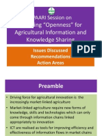 APAARI_Session on Openness in Agricultural Information and Knowledge Sharing