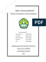 Scope of Project Management