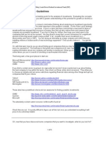 Investment Analysis Guidlines
