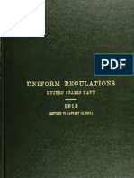 Uniform Regulations USN 1913