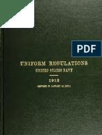 Uniform Regulations USN 1913