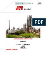Project on Acc cement