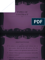 Types of Contract Uma