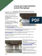 Graffitientfernung auf ungeschütztem Beton mit Nortech Reinigergel