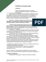 CAPÍTULO II - ESTATÍSTICA  Conceitos iniciais