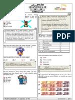 Avaliação Diagnóstica MATEMÁTICA 4º ANO MONITOR FINAL