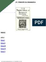 Livro  - A Tragédia de Hamellet, o principe da dinamarca
