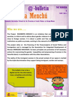Bulletin Rigoberta Menchu Number 1_English