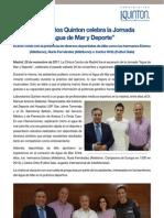 """Laboratorios Quinton celebra la Jornada  """"Agua de Mar y Deporte"""""""