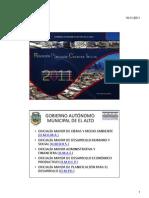 Presentacion Oficial Rendicion Publica de Cuentas Inicial Gamea 2011