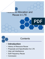 Resource Allocation and Reuse in Lte4522