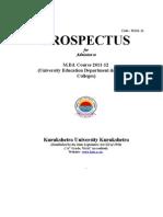 M Ed Prospectus 2011-12