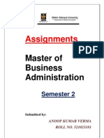 Solved Assignment- Mba II